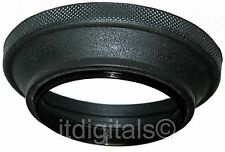 77mm Wide Angle Rubber Lens Hood Sun Shade Screw-in Folding Double Thread Ring