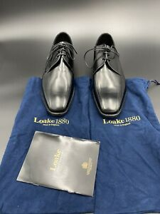 Loake Made in England - McQueen Shoes Size UK 8F - Leather Upper & Sole - As New
