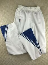 Vintage Player Issued Champion Basketball Warm Up Pants Tear Away Mavs Wolves