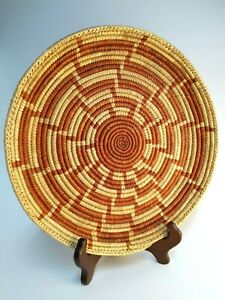 """12"""" Inch Finely Woven Southwestern Design Shallow Basket Wall Hanging Decor"""