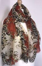 Designer Inspired Pashmina Scarf Baroque Style Wool Blend Oversized Long NEW
