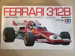 Jacky Ickx - Tamiya 1:12 Ferrari 312B Plastic Model Kit - New Sealed Box