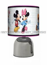 MICKEY MOUSE PINK ☆ BEDSIDE TOUCH LAMP ☆ GIRLS NIGHT LIGHT ☆ MATCHES DUVET