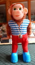 VINTAGE Battery Operated 1960's Skipping Monkey & Box Excellent Condition  WORKS