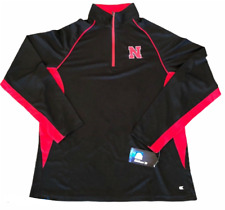Nebraska Huskers Ncaa (Colosseum) 1/4 Zip Pullover Black Red Mens Sz Small S Nwt