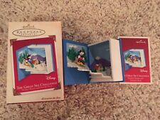 "Hallmark Keepsake DISNEY'S MICKEY & DONALD ""THE GREAT SKI CHALLENGE"" 2002"