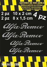 KIT 4 ADESIVI ALFA ROMEO sticker PINZE FRENO MITO 147 159 GIULIA STELVIO ARGENTO
