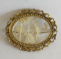 Victorian Parkesine plastic brooch