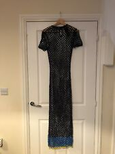 BNWT French Connection Blue Lace Crochet Net Maxi Dress One Size 6/8/10/12/14/16