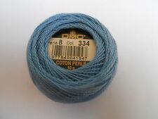 DMC Perle 8 Cotton Ball Blue Colour Number 334