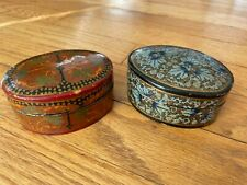 """Vintage Thai Lacquer Boxes - about 3 1/2"""" x 2 1/2"""""""