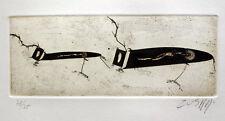 Zush Evru-sin título IV. autografiado y numerada aguafuerte.