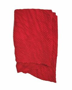 Peony Scarf - Pleated - Red