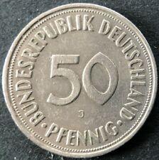 1950 J Germany Federal Republic 50 Pfennig Coin KM# 109
