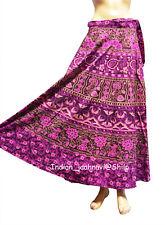 Pure Cotton Women Long Wrap Indian Floral Print Maxi Throw Ethnic Around Skirt