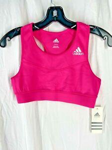 Adidas Youth Girls Sports Performance Training Bra Pink Size L - 14