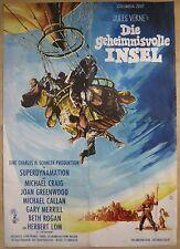 Filmplakat  EA  Die geheimnisvolle Insel  Jules Verne  Michael Craig , H.Lom 2.