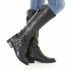 Leather Pull On Knee High Boots for Women