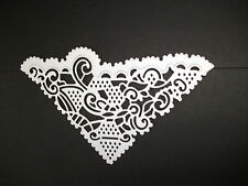 New: 5 x Tattered Lace Chantilly Diamond Die Cuts: White.