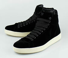 NIB TOM FORD Black Velvet Fashion Sneakers Shoes Size 8.5 T US 41.5 EU $990