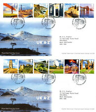 13 OCTOBER 2011 UK A--Z on 2 ROYAL MAIL FIRST DAY COVERS BUREAU SHSs