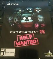 Five Nights at Freddy's VR Help Wanted Download Card Sony PlayStation 4 PS4 PSVR