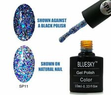 Bluesky UV LED Soak Off Nail Polish SP11 Blue Purple Silver 10ml