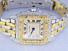 Womens Cartier Panther 18K Gold Diamonds Everywhere