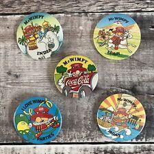 Vintage Retro Button Tin Pin Badge   I Love Mr Wimpy Bundle