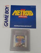 Metroid Ii Return of Samus - Nintendo GameBoy - Game & Manual & Case - Tested!