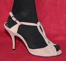 COX Damen HIGH HEELS Wildleder Leder Schuhe Sandalen PUMPS mit Strass 39 SHOES
