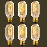 3x 6x E26 Vintage Antique 40W Industrial Edison Bulb Lamp Filament Light 110V