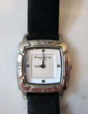 Kenneth Cole Black Leather Band Women's Watch- NEW Battery!