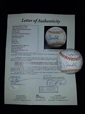 2016 CUBS TEAM SIGNED 2016 WORLD SERIES BASEBALL BRYANT RIZZO ARRIETA JSA LOA