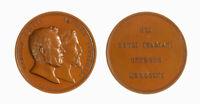 s1166_44) Medaglia 1856 dedicata a Cavour e Lamarmora Op: Ferraris Æ Ø mm 52