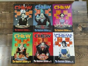 Chew 1-6 omnivore edition hardcover lot John Layman complete seriesHC