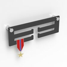 Medal Display Hanger / Black Acrylic Medal Hanger / Holder / Rack With Standoffs
