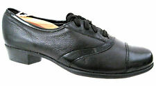 MUNRO American Black Leather Patent Cap Toe Lace Up Oxfords Size 7 N