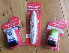Plus Japan 2 x Deco Mini Roller Stamps & 1 x Deco Tape Pen - Presents, Christmas
