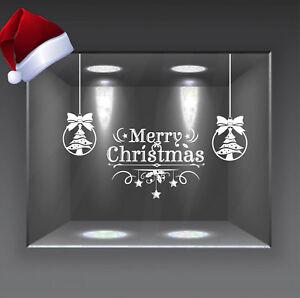 adesivi vetrine natalizie vetrofanie sospensioni wall stickers home natale a0676