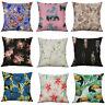 Cotton Linen printing Flower hummingbird Pillow Case Cushion Home Décor Cover