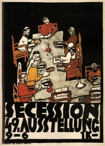 Exhibition of the Secession, EGON SCHIELE Expressionism Vienna Secession Poster