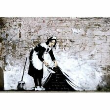 BANKSY POSTER (42x59cm) SWEEPING UNDER WALL NEW ART