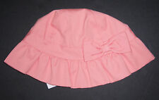 NWT Janie and Jack 2T-3T Poppy Garden Coral Bow Sun Hat