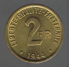 FRANCE - G537 - 2 FRANCS FRANCE LIBRE 1944 en SUP à SPL   trés belle patine