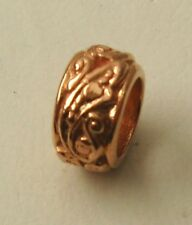 GENUINE  SERENITY  9ct  ROSE  GOLD  CHARM  ORNATE  BEAD