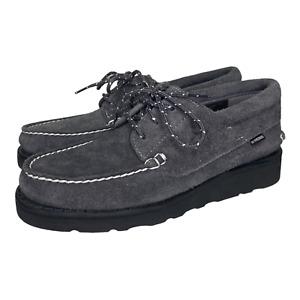Timberland x Madness Hong Kong Mens 3 Eye Classic Suede Boat Shoe Gray Size 8.5