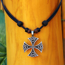 Viking Chain Jewellery Leather Necklace Mens Celtic Jewelry Odin Thor