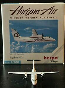 Horizon Air Dehavilland DASH-8 Herpa Wings 1:500 Diecast Model Airplane