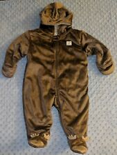 CARTERS JUST ONE YOU Brown Bear Hooded Bunting Winter...
